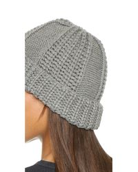 1717 Olive - Gray Cable Knit Beanie - Lyst
