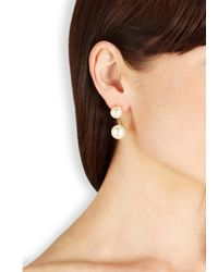 Joomi Lim - Metallic 16Kt Gold-Dipped Swarovski Faux Pearl Earrings - Lyst