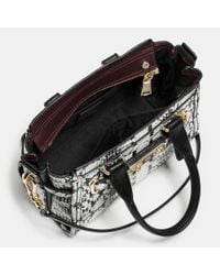 COACH | Metallic Swagger 20 In Colorblock Exotic Embossed Leather | Lyst