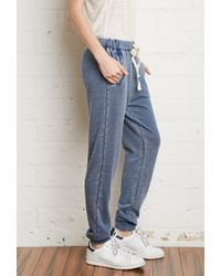 Forever 21 | Blue Faded French Terry Sweatpants | Lyst