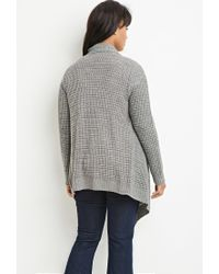 Forever 21 - Gray Plus Size Waffle Knit Cardigan You've Been Added To The Waitlist - Lyst