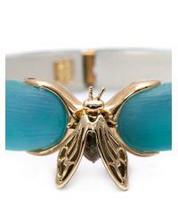 Alexis Bittar - Blue Iridescent Bee Bangle - Lyst