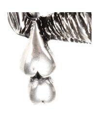 Saint Laurent - Metallic Sterling Silver Brooch - Lyst