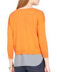 Ralph Lauren - Orange Lauren Layered Shirttail Sweater - Lyst
