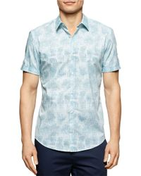 Calvin Klein | Blue Cluster Print Sportshirt for Men | Lyst