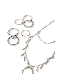 Forever 21 | Metallic Leaf Hand Chain Set | Lyst