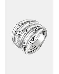 John Hardy | Metallic 'bamboo' Wide Stack Ring | Lyst