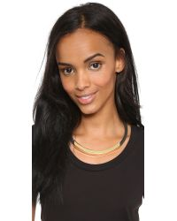 Kenneth Jay Lane | Metallic Bar Short Necklace - Gold/black | Lyst