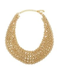 Kenneth Jay Lane | Metallic Multi-row Link Bib Necklace | Lyst