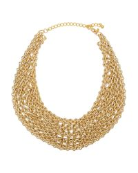 Kenneth Jay Lane | Metallic Gold-Plated Multi-Chain Necklace | Lyst