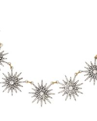 Lulu Frost - Metallic Silver-tone Crystal Radiant Necklace - Lyst