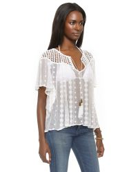 House of Harlow 1960 | Stevie Blouse - White | Lyst
