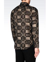 Emporio Armani | Black Shirt In Modal Blend for Men | Lyst