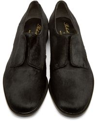Robert Clergerie - Black Calf-hair Slip-on Oxfords - Lyst