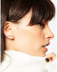 ASOS - Pink Sleek Fine Bar Ear Climber - Lyst