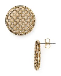 Nadri | Metallic Lattice Stud Earrings | Lyst