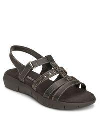 Aerosoles | Black Wipple Threat Strappy Sandals | Lyst