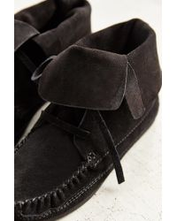 Urban Outfitters | Black Moccasin Ankle Boot | Lyst