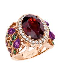 Le Vian - Purple 14k Strawberry Gold Garnet And Multi Stone Ring - Lyst