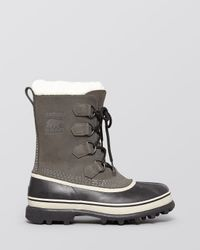 Sorel - Gray Caribou Snow Boots - Lyst
