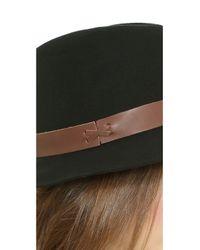 Hat Attack - Brown Wool Felt Medium Brim Hat - Black/Chocolate - Lyst