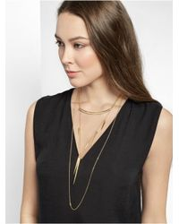 BaubleBar - Metallic Spindle Layered Necklace - Lyst