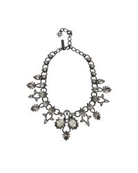 Oscar de la Renta - Metallic Pear Stone Necklace - Lyst