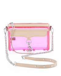 Rebecca Minkoff | Multicolor Mini Mac Pvcleather Crossbody Bag Pink | Lyst