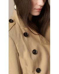 Burberry | Natural Cotton-Poplin Trench Jacket | Lyst