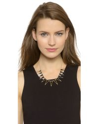 House of Harlow 1960 | Metallic Enameled Echelon Collar Necklace - Black/gold | Lyst