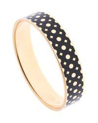 Ted Baker | Metallic 'clova' Enamel Dot Bangle Bracelet | Lyst