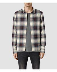 AllSaints - Black Haysville Shirt for Men - Lyst