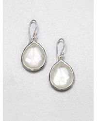 Ippolita | Metallic Wonderland Mother-of-pearl, Clear Quartz & Sterling Silver Mini Doublet Teardrop Earrings | Lyst