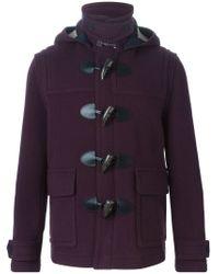 Burberry Brit - Pink Detachable Hood Duffle Coat for Men - Lyst