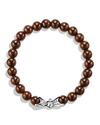 David Yurman - Brown Spiritual Beads Bracelet with Bronzite for Men - Lyst