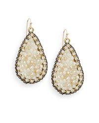 Saks Fifth Avenue | Metallic Beaded Teardrop Earrings | Lyst