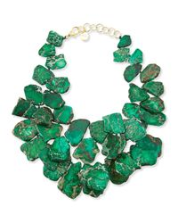 Nest | Green Chunky Emerald Jasper Necklace | Lyst
