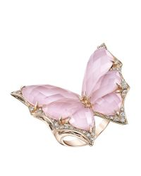 Stephen Webster - Pink Fly By Night Large Crystal Haze Ring - Lyst