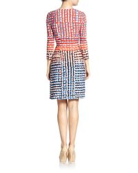 BCBGMAXAZRIA | Multicolor Adele Printed Wrap Dress | Lyst