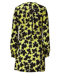 Diane von Furstenberg - Green Dove Bloomacid Lime Dora Crepe Dress - Lyst