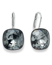 Swarovski - Metallic Earrings, Silver-tone Crystal Drop Earrings - Lyst