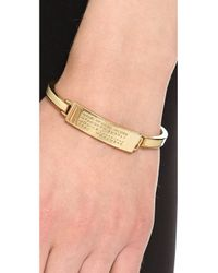 Marc By Marc Jacobs - Metallic Standard Supply Fine Enamel Bangle Bracelet Creme - Lyst