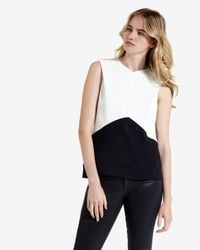 Ted Baker - Black Colour Block Top - Lyst
