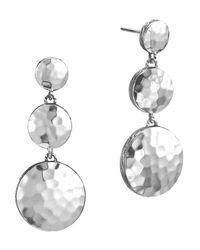 John Hardy | Metallic Palu Silver Triple Drop Linear Earrings | Lyst
