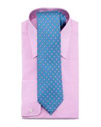 Charvet - Pink Check Dress Shirt for Men - Lyst