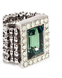 Philippe Audibert - Metallic Elea Rectangular Erinite Stone Ring - Lyst