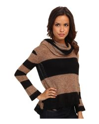 Free People - Black Lulu Cowl Sweater - Lyst