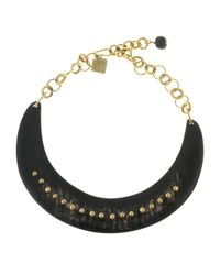 Ashley Pittman | Metallic Studded Collar Necklace | Lyst