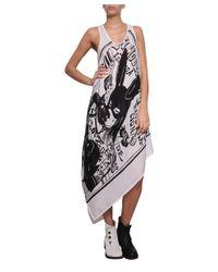 Share Spirit - White Asymmetric Printed Cotton Dress - Lyst