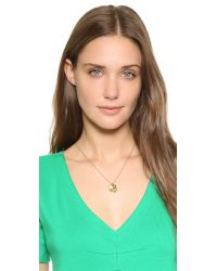 kate spade new york - Metallic Star Born To Shine Charm Necklace - Lyst